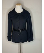 Theory Womens Blazer Jacket Belted Button Long Sleeve Black Sz S/P - $39.95