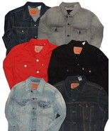 LEVIS TRUCKER JACKET SLIM FIT STANDARD FIT RELAXED MEN DENIM JEAN S L XL... - $57.81+