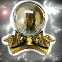 HAUNTED ANTIQUE CRYSTAL BALL ALEXANDRIA ALL POWER IS WITHIN HIGHEST LIGH... - $22,337.77