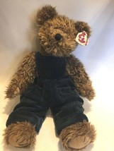 """TY 1993 Vintage Grover Jointed Stuffed Bear Corduroy Overalls Plush 16""""  w/Tag - $22.76"""