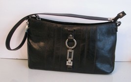 Etienne Aigner Black Leather PURSE Handbag Satchel Over Shoulder BAG Poc... - $23.75