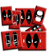 DEADPOOL FACE MASK COMICS SUPERHERO LIGHT SWITCH OUTLET WALL PLATE ROOM ... - $8.99+