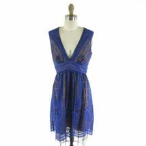 6 - BCBG Purple Embroidered Overlay $428 KELLYN Gorgeous Dress NEW 0112TD - $130.00