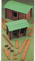 Toy Building Logs Annie's Attic Plastic Canvas Pattern/Instructions Leaflet - $2.67