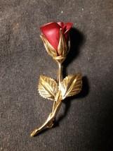 Premier Designs Brooch Pin Rose signed - $8.91