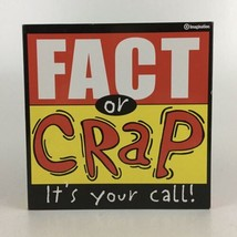 Fact Or Crap It's Your Call Board Game Imagination Family Fun - $10.39