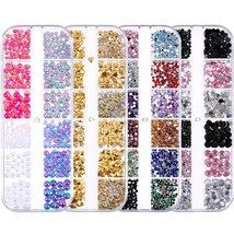 Nail Rhinestones kit Multi-size Gems Metal Nail Rivets Studs (3, 4 or 5 boxes) image 2