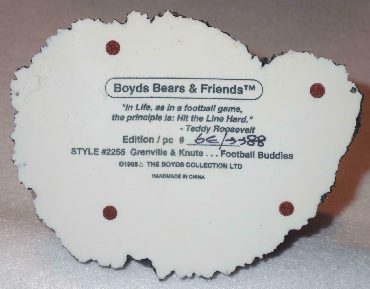 Boyd Bearstone Resin Bears Grenville & Knute Football Buddies Figurine #2255 image 4