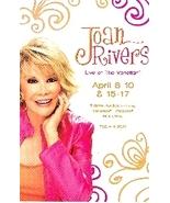 "A Joan Rivers @ Venetian Hotel Las Vegas 4' X 6"" Promo Card - $3.95"