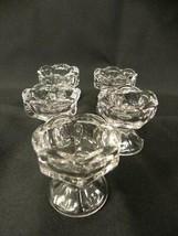 LOT OF 5 ANTIQUE EAPG FLINT GLASS ARGUS SALT CELLARS CONDIMENT DISHES - $24.57