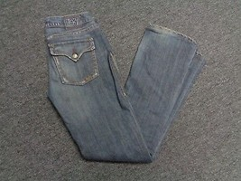 1921 Women's Blue Five Pocket Jeans With Minimal Distressing Sz 27/34  S... - $25.69