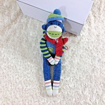 "Seasons Of Cannon Falls Plush Stuffed Sock Monkey 13"" Tall Toy Animal - $8.59"