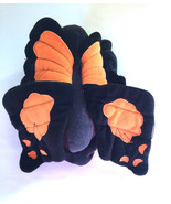 """Butterfly Puppet Plush 6 1/2"""" Black and Orange - $3.95"""