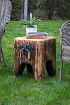 Cedar Creek Sculptures - Creek Side Cube - Rustic Fire Pit Chair - Bench - Table - $325.00
