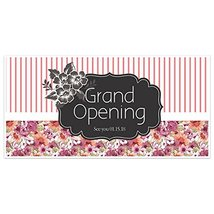 Flower Mix Grand Opening Business Window Display Retail Large Format Sign - $19.31