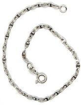 Bracelet or Blanc 18K 750, Jersey Marine, Bateau, Traverse Croisé image 3