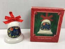 1986 Hallmark Porcelain Bell Keepsake Ornament Ten 10 Years Together QX4013 - $9.90