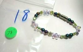 Beaded Bracelet Magnetic Hematite Clasp Single Strand   7 Inch   (MAG-018) image 4