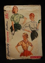 Old Vintage 1956 Simplicity Sewing Pattern 1692 Junior & Misses Set of B... - $6.92