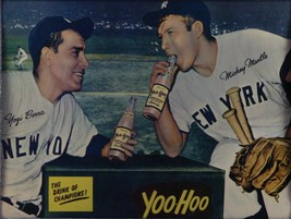 YOGI BERRA & MICKEY MANTLE 8X10 PHOTO NEW YORK YANKEES BASEBALL PICTURE ... - $3.95