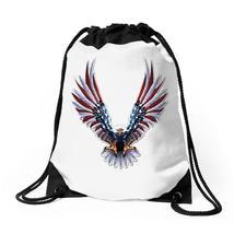 American Eagle Usa Flag Wings Drawstring Bags - $31.00
