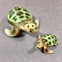 Vintage Hagen Renaker Sea Turtles Mother/Baby Miniature Ceramic Figurines - £18.00 GBP