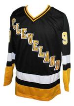 Custom Name # Cleveland Lumberjacks Retro Hockey Jersey Black Quinn #9 Any Size image 3