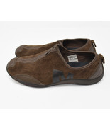 Merrell Womens Sz 10 EU 41 Brown Suede Zip Up Walking Flats Loafers J173... - $19.95