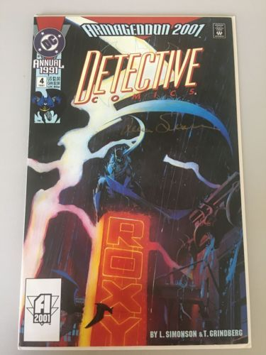 Detective Comics (1937 1st Series) Annual #4 Signed by Louise Simonson VF Very F