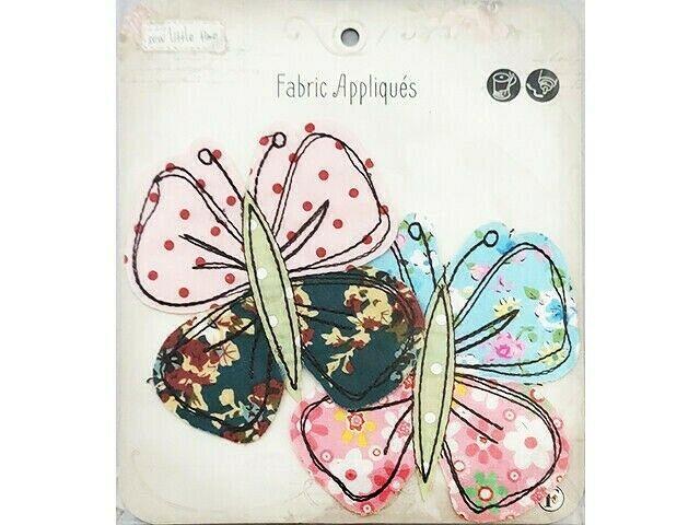 Fabric Editions Appliques Sew Little Time Butterflies, Set of 2 #SLT-APLIQ-BTFLY