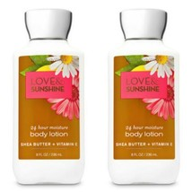 Bath & Body Works Love and Sunshine Shea & Vitamin E Lotion 8 oz Set - $24.75