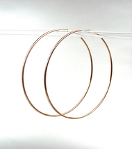 "CHIC Lightweight Thin Rose Gold Continuous INFINITY 1 3/4"" Diameter Hoop Earring - $14.99"