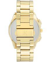 I.N.C. Men's 44.5mm Black & Gold Tone Sub Dial Link Bracelet Wrist Watch NIB image 3