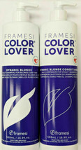 Framesi Color Lover Dynamic Blonde Shampoo, Condition DUO-SET  16.9 OZ EACH - $34.85