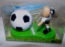 Desktop Scotch Magic Tape Dispenser 3M Soccer Player Ball Coach Gift - $6.91