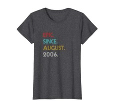 Teacher Style - Epic Since August 2006 Vintage - 12th Birthday Gift T-Shirt Wowe - $19.95+