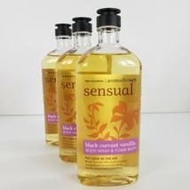 3 Aromatherapy Sensual Body Wash Foam Bath Black Currant Vanilla Bath Bo... - $34.95