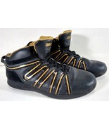 SHAQ BASKETBALL SHOES MEN'S SIZE 6 SQUIGGLE DESIGN FAUX LEATHER - $27.95