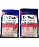 2 Dr Teals Pure Epsom Salt Soaking Solution Rose Essential Oil Calm & Se... - $34.99
