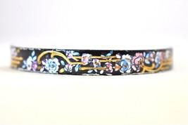 VTG Enamel Flower Bangle Bracelet Marked Austria Hand Painted Signed by ... - $15.79