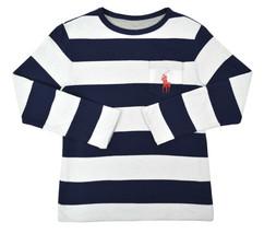 Polo Ralph Lauren Boys Blue White Grey L/S Reversible Shirt Large L 14-1... - $33.65