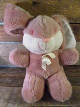 "Vintage Rosso Eyed Rosa Coniglietto Peluche 12 "" Peluche Dan Dee Animale - $19.74"