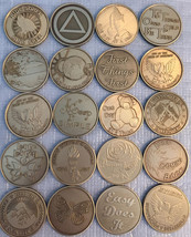 Lot of 30 Serenity Prayer Bronze Medallions AA Alcoholics Anonymous Chip... - $39.99
