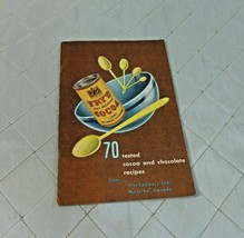 Cocoa & Chocolate Recipe Booklet Fry Cadbury Montreal 70 Tested Vintage Ad - $29.02