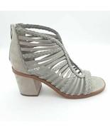 Vince Camuto Womens Kestal Gladiator Sandals Gray Block Heel Zipper 8.5 ... - $77.21