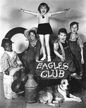 Our Gang Kids Singing On Eagles Club Sign W/Dog 16X20 Canvas Giclee - $69.99