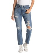 Levis women 501 Distressed Button fly High Waist Skinny Jeans NICE AS PIE - $34.95
