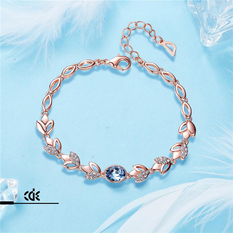 Cdyle Rose Gold Bracelets Crystals from Swarovski Bangle for Women Fashion Jewel