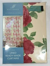 New Filigree Florence Floral 66 x 72'' Pencil Pleat Curtains - $36.17