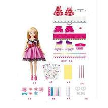 PANDA SUPERSTORE DIY 10'' Doll Fashion Blonde Doll Girls' Toy Dress-Up Set Doll